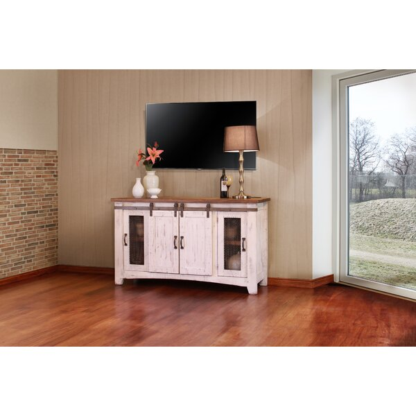 Coralie Solid Wood TV Stand For TVs Up To 65