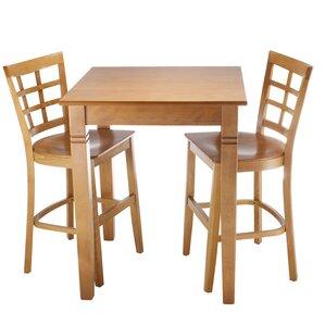 Lattice 3 Piece Pub Table Set by Benkel Seating