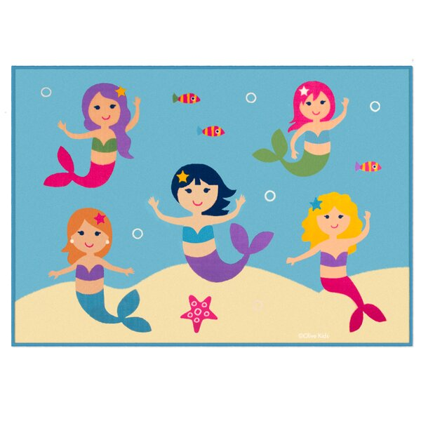 Olive Kids Mermaids Blue Area Rug by Wildkin