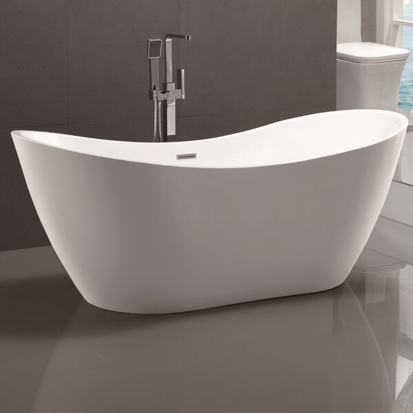 71 x 31.5 Freestanding Soaking Bathtub by Vanity Art
