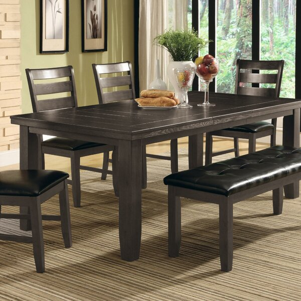 Severus Extendable Solid Wood Dining Table by Winston Porter