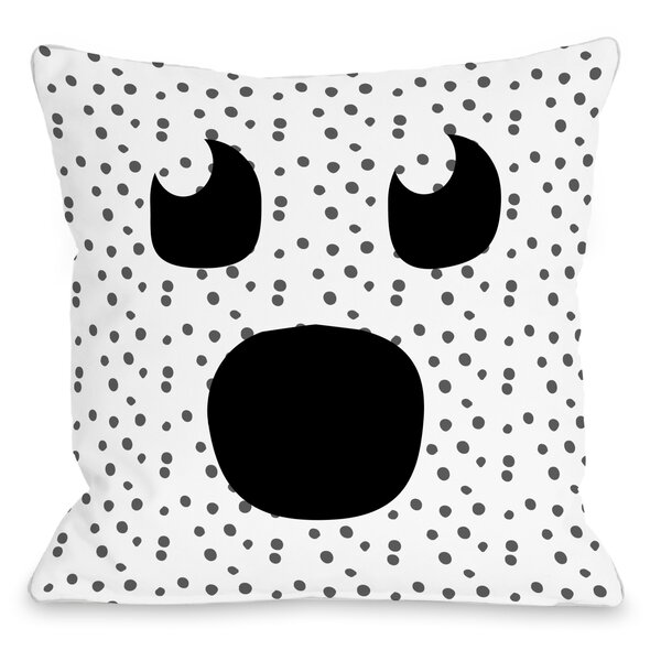 Ghost Face Dots Throw Pillow by One Bella Casa