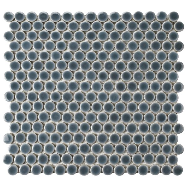Penny 0.8 x 0.8 Porcelain Mosaic Tile in Gray by EliteTile