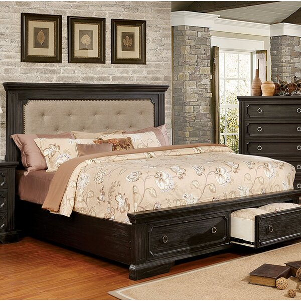 Deonte Upholstered Storage Standard Bed by Alcott Hill