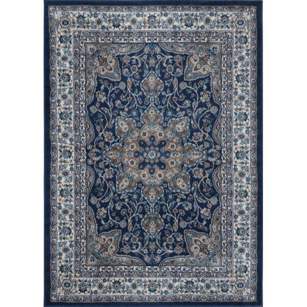 Tremont Blue/Ivory Area Rug by Andover Mills