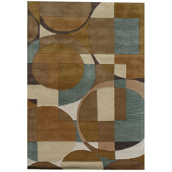 Ashley Circle Brown Area Rug by Acura Rugs