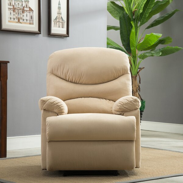 Microfiber Manual Recliner by Belleze