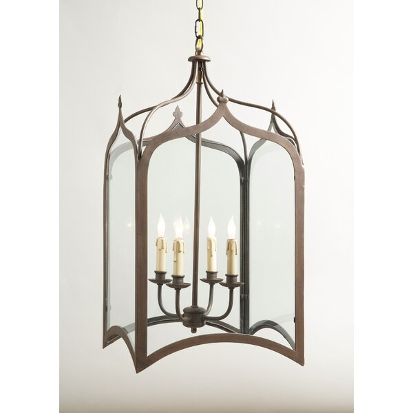 Chesterfield 4-Light Outdoor Hanging Lantern by Canora Grey
