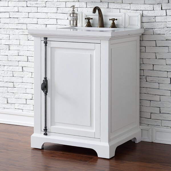 Ogallala 26 Single Cottage White Bathroom Vanity Set by Greyleigh