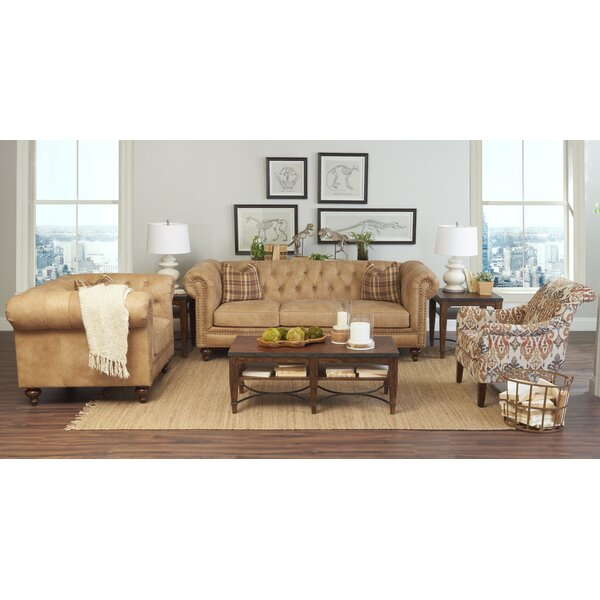 Kavya Leather Configurable Living Room Set by Canora Grey