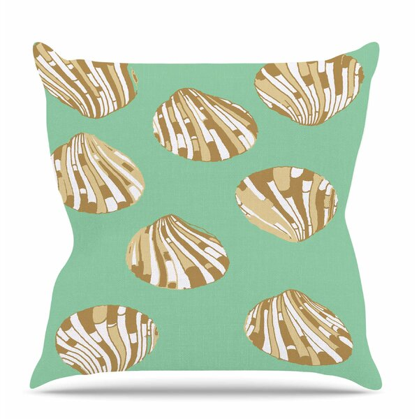 Scallop Shells by Rosie Brown Outdoor Throw Pillow by East Urban Home