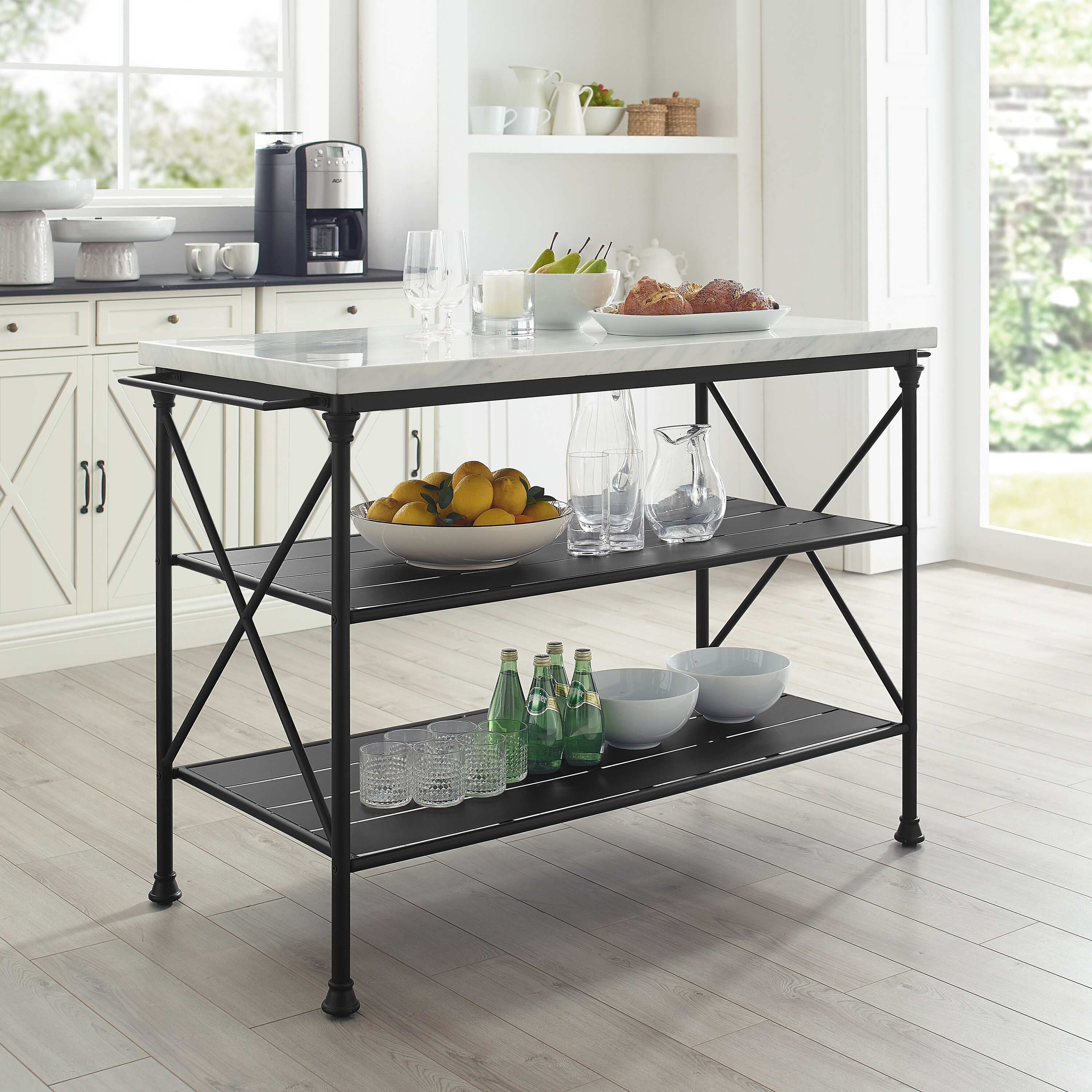 Gracie Oaks Dorcia Kitchen Island With Manufactured Wood Top