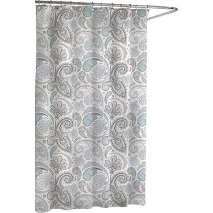Delightful Cotton Paisley Shower Curtain