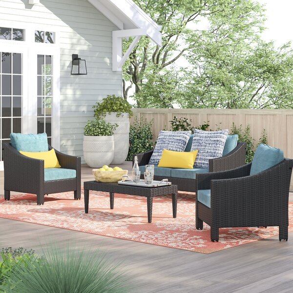Portola 4 Piece Sofa Seating Group with Cushions