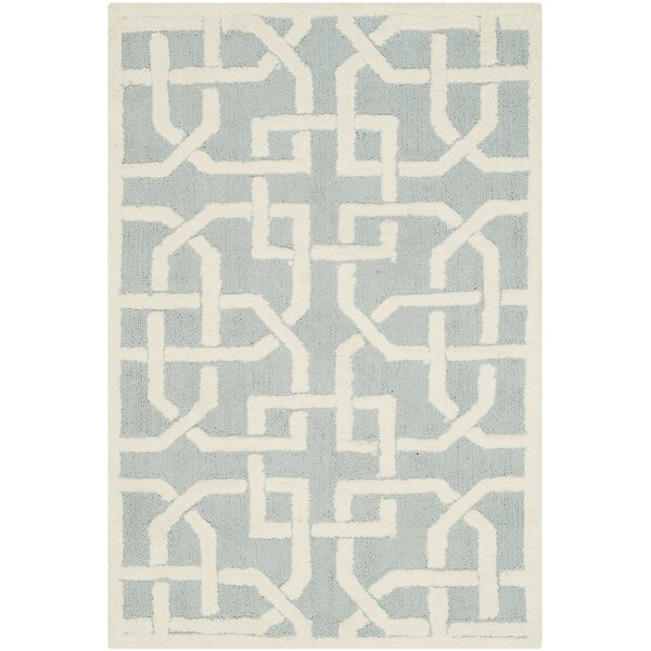 Sheeran Light Blue/White Area Rug by Wrought Studio