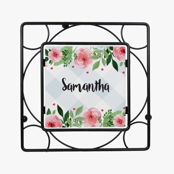 Personalized Metal Flower Trivet by Monogramonline Inc.