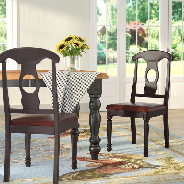 Bargain Aimee Faux Leather Dining Chair (Set Of 2) By August Grove Coupon