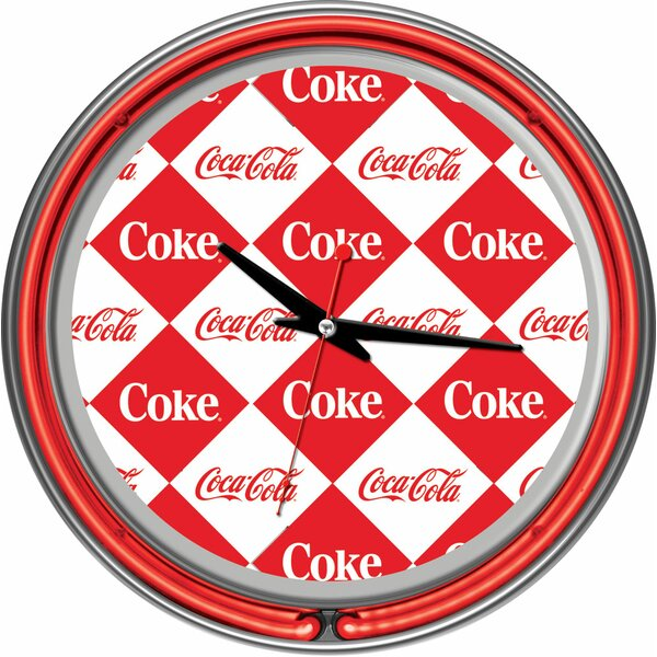 Coca Cola 14.5 Checker Wall Clock by Trademark Global