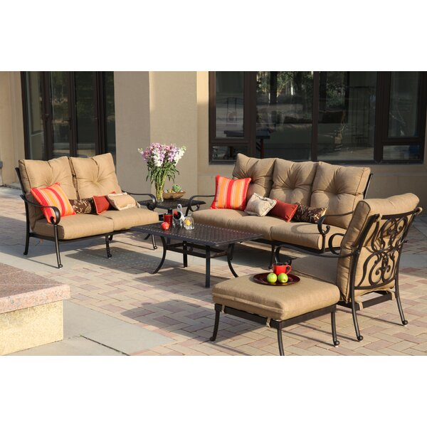 Lanesville 4 Piece Sofa Seating Group with Cushions by Darby Home Co