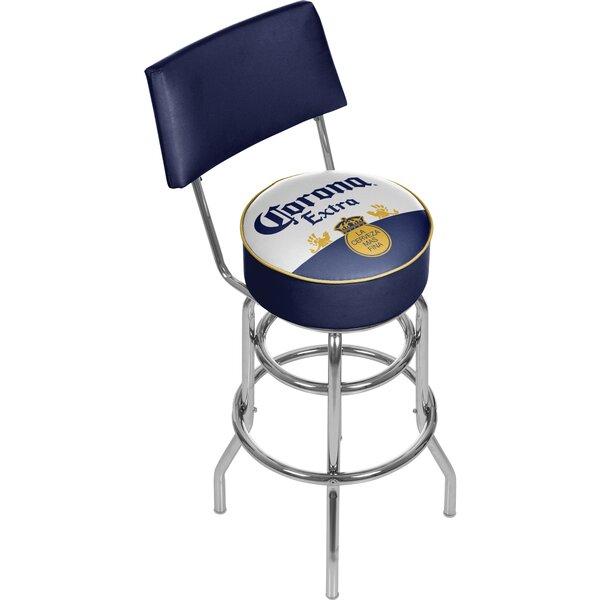 Corona 31 Swivel Bar Stool by Trademark Global