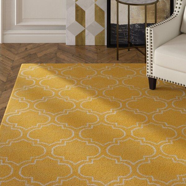 Shandi Hand-Tufted Yellow Area Rug by Mercer41