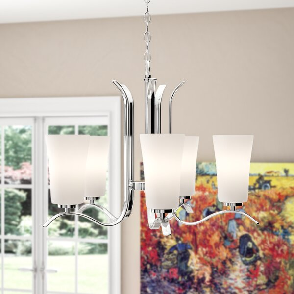 Guerro 5 - Light Shaded Classic / Traditional Chandelier By Alcott Hill