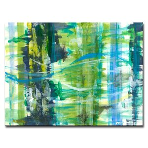 'Calming Chaos' Oil Painting Print on Canvas by Zipcode Design