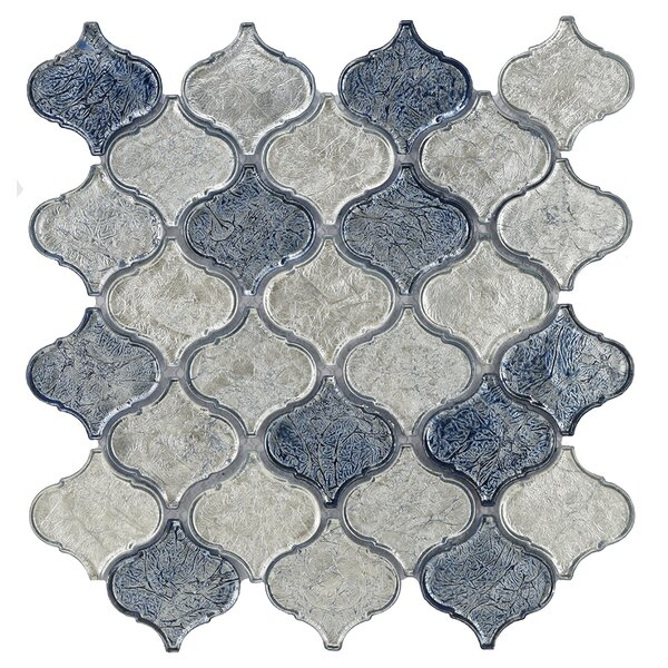 Lantern Glass Mosaic Tile in Blue Blend by Byzantin Mosaic