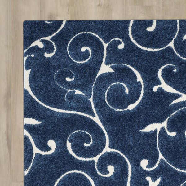 Alison Light Blue/Cream Area Rug by Three Posts