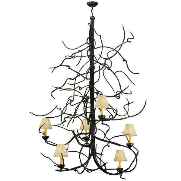 Falmouth 6 - Light Unique Geometric Chandelier by Foundry Select Foundry Select