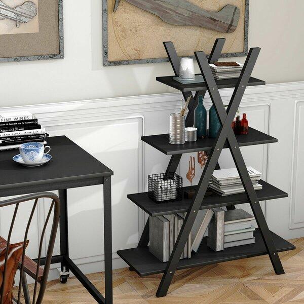 Hartselle 4-Tier X-Shape Ladder Bookcase By Orren Ellis