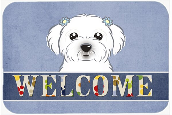 Maltese Welcome Kitchen/Bath Mat by East Urban Home