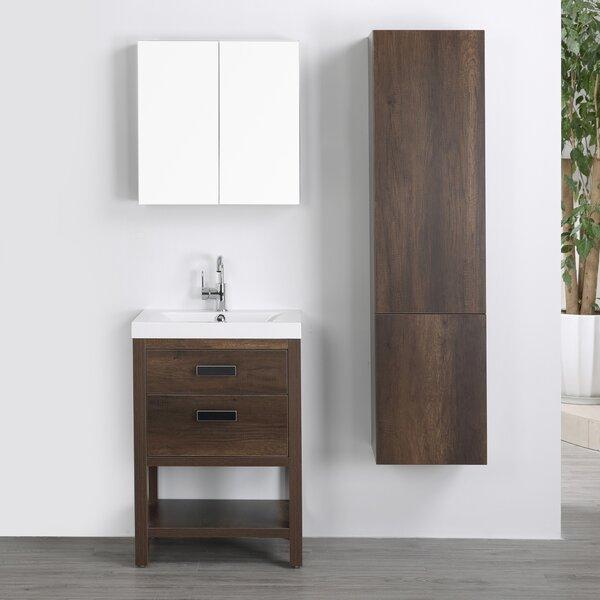 24 Single Bathroom Vanity Set with Mirror by Streamline Bath