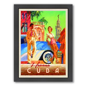 Havana Cuba Design Group Framed Vintage Advertisement by East Urban Home