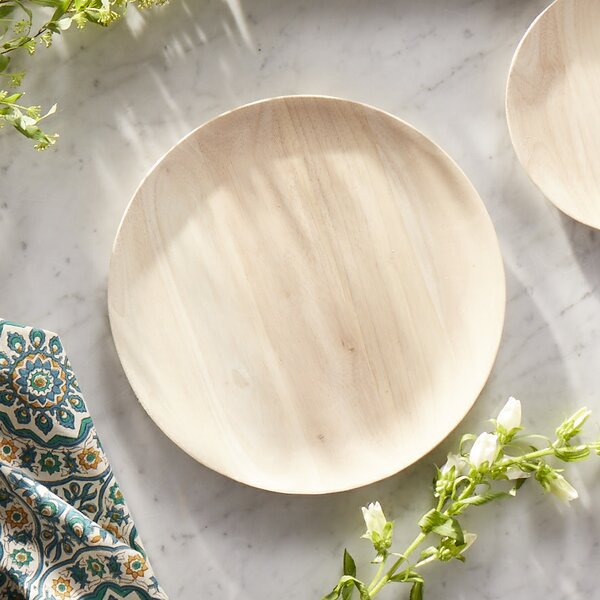 Noonkester Rubberwood 12 Dinner Plate by Union Rustic