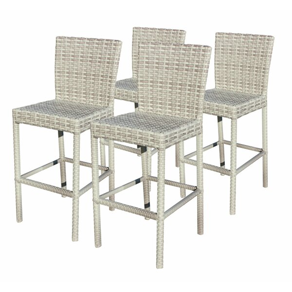Ansonia Outdoor 30 Patio Bar Stool (Set of 4) by Rosecliff Heights