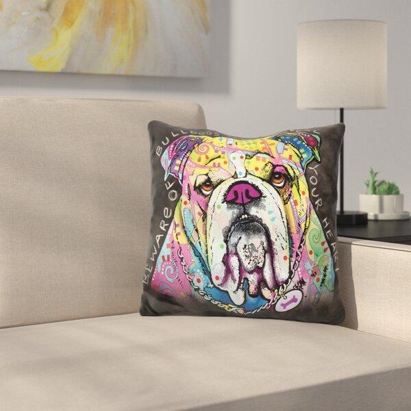 English Bulldog Throw Pillow by East Urban Home