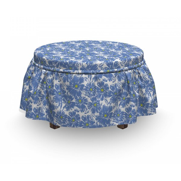 Botanical Pastel Nature Ottoman Slipcover (Set Of 2) By East Urban Home