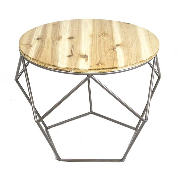 Metal Wood Top End Table by Sagebrook Home