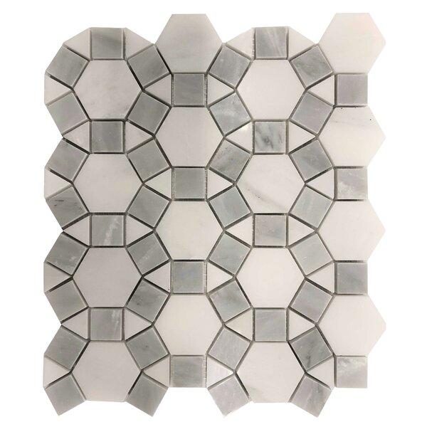 Alps Hexagon Puzzle 12 x 12 Marble Mosaic Tile