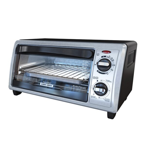 4-Slice Stainless Steel Toaster Oven with Bake Pan by Black + Decker