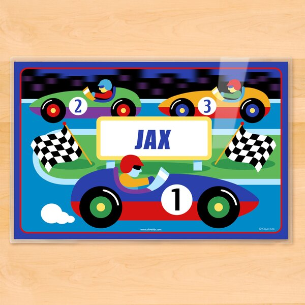 Vroom Track Personalized Placemat by Olive Kids