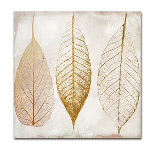'Fallen Gold II' by Color Bakery Painting Print on Wrapped Canvas by Trademark Fine Art