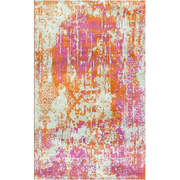 Aliza Handloom Pink/Orange Area Rug by Bungalow Rose
