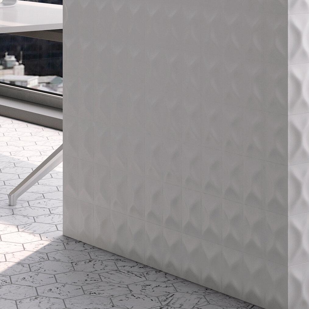 Elitetile Frena 4 X 6 Ceramic Field Tile In Blanco Wayfair