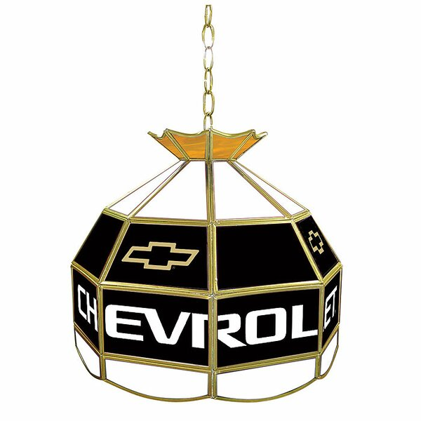 Chevy Stained Glass Lighting Fixture by Trademark Global