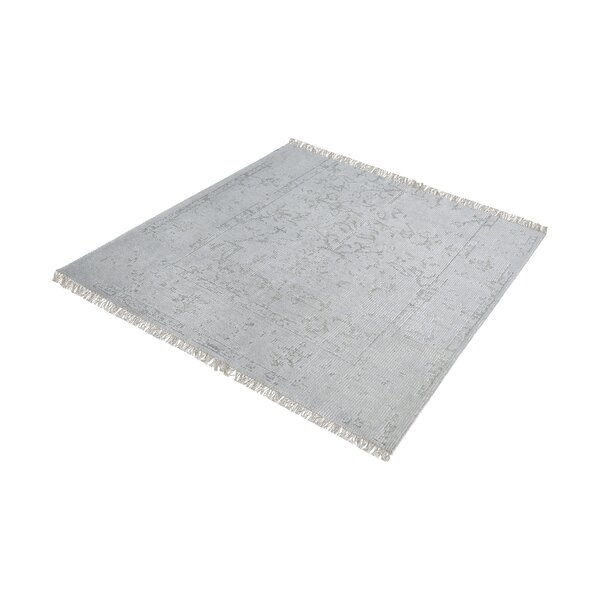 Florus Hand-Knotted Gray/Silver Area Rug by Bungalow Rose