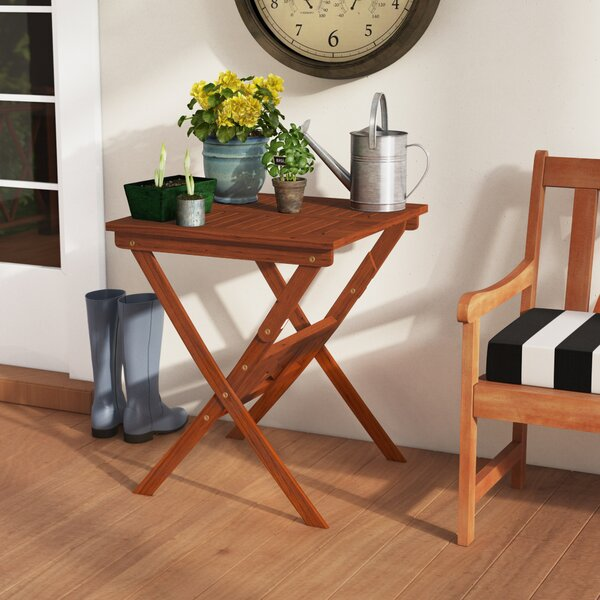 Amabel Folding Wooden Bistro Table by Beachcrest Home