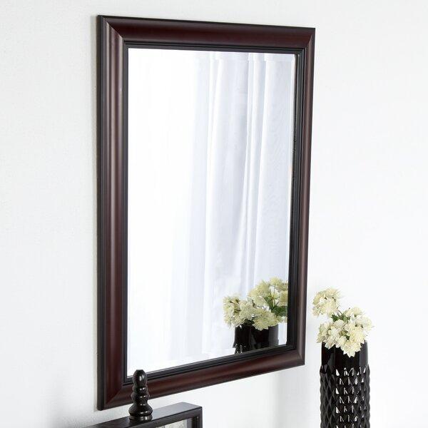 Dalat Cherry Framed Vanity Beveled Wall Mirror by DesignOvation