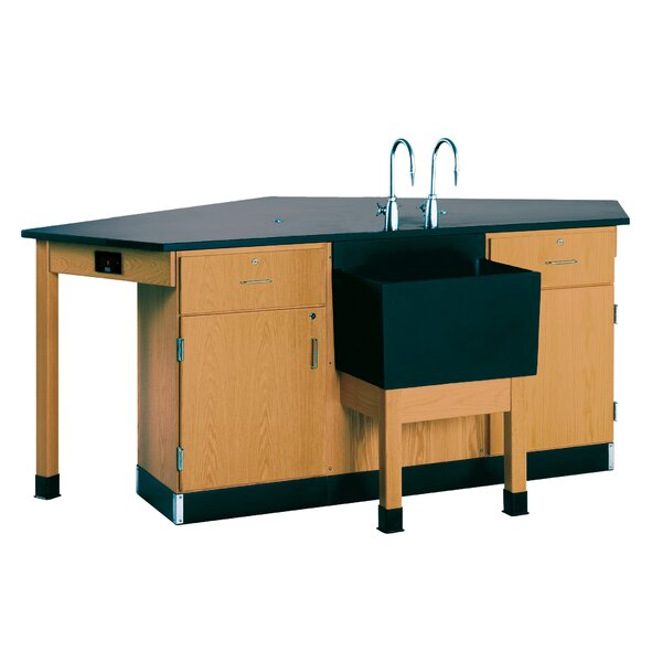 Labview 4 Student Workstation With Door/ Drawer by Diversified Woodcrafts